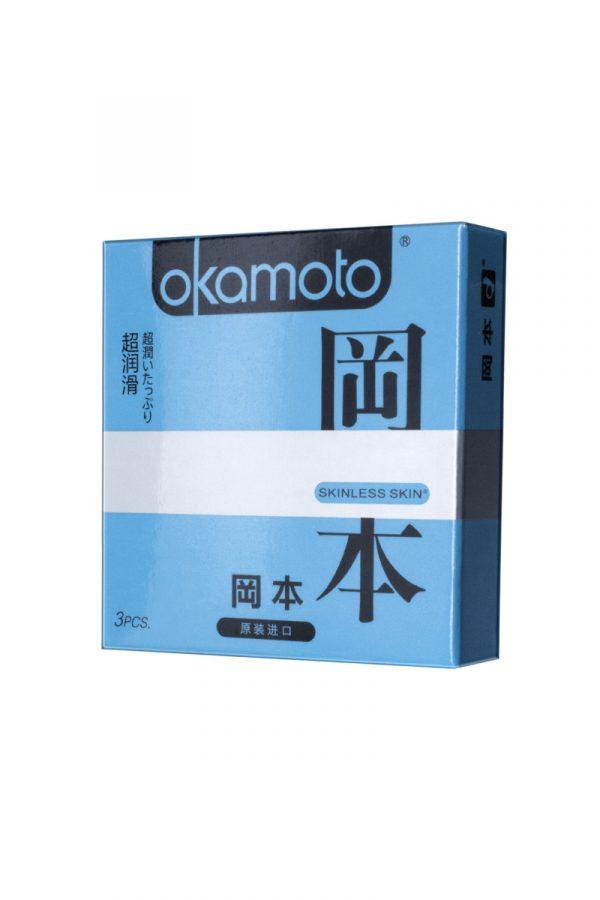 Презервативы Окамото серия Skinless Skin  Super lubricative  № 3 С двойной смазкой, Категория - Презервативы/Классические презервативы, Атрикул 0T-00008081 Изображение 2