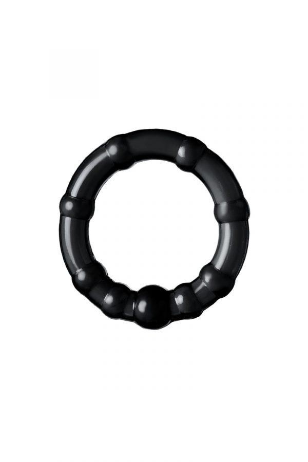 Набор из 3х колец Штучки-дрючки, силикон, чёрный, Ø 3,5/3/2 см, Категория - Секс-игрушки/Кольца и насадки/Наборы колец и насадок, Атрикул 0T-00012820 Изображение 2