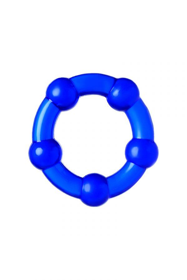 Набор из 3х колец Штучки-дрючки, силикон, синий, Ø 3,5/3/2 см, Категория - Секс-игрушки/Кольца и насадки/Наборы колец и насадок, Атрикул 0T-00012821 Изображение 3