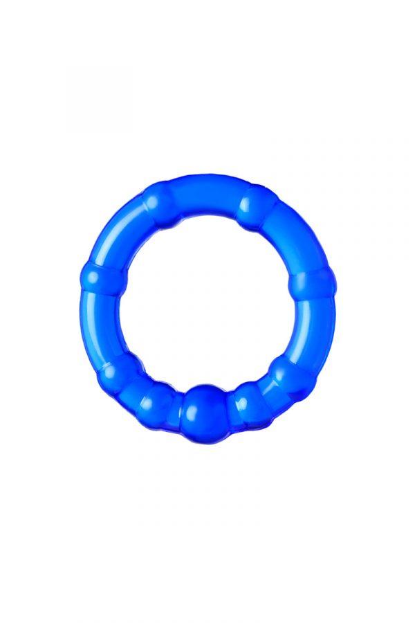 Набор из 3х колец Штучки-дрючки, силикон, синий, Ø 3,5/3/2 см, Категория - Секс-игрушки/Кольца и насадки/Наборы колец и насадок, Атрикул 0T-00012821 Изображение 2