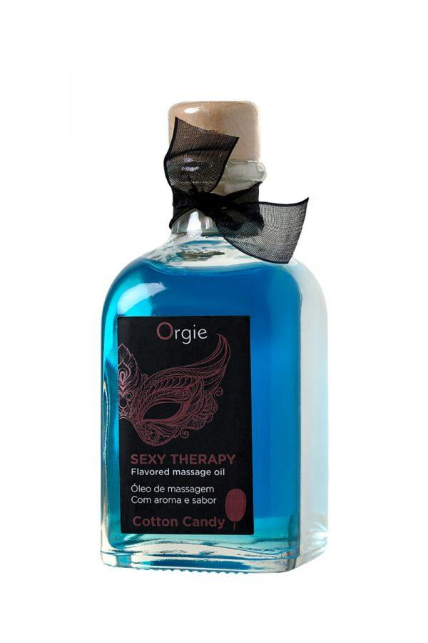 Комплект для сладких игр Orgie Lips Massage со вкусом сахарной ваты (сладкое массажное масло, перо и путеводитель), 100 мл, Категория - Интимная косметика/Средства для массажа/Гели и масла, Атрикул 0T-00012916 Изображение 3