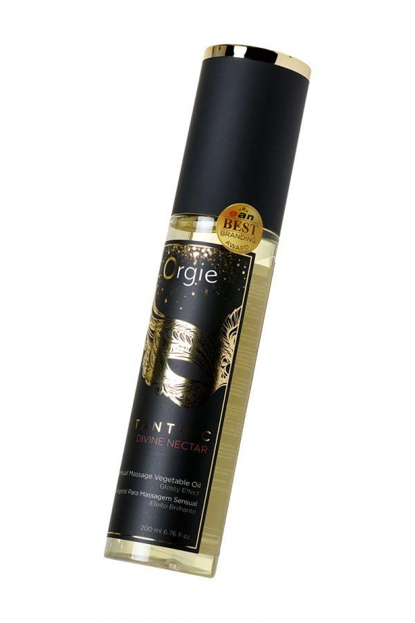 Растительное массажное масло Orgie Tantric divine nectar, 200 мл, Категория - Интимная косметика/Средства для массажа/Гели и масла, Атрикул 0T-00012906 Изображение 2