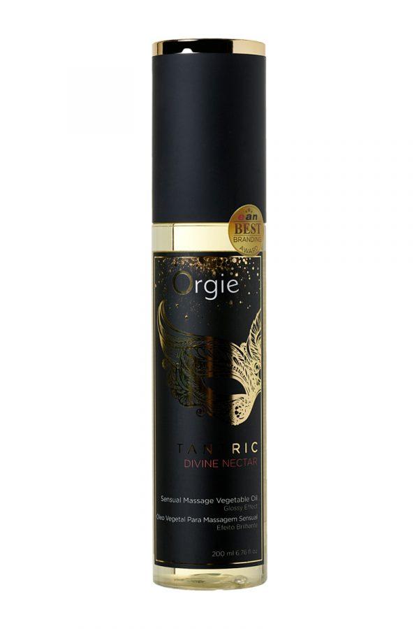 Растительное массажное масло Orgie Tantric divine nectar, 200 мл, Категория - Интимная косметика/Средства для массажа/Гели и масла, Атрикул 0T-00012906 Изображение 3