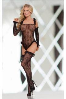 S/L Костюм-сетка SoftLine Collection Burlesque, черный, S/L, Категория - Белье и одежда/Женская одежда и белье/Боди и комбинезоны, Атрикул 0T-00012311 Изображение 1