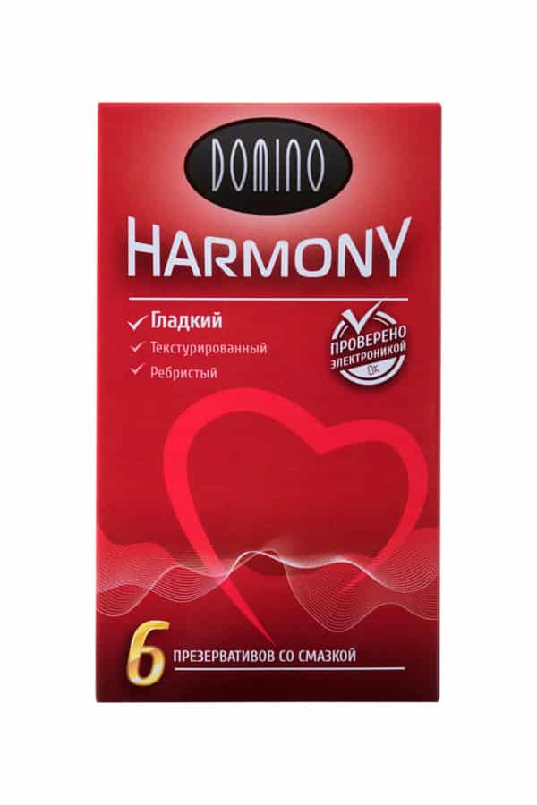 Презервативы Luxe DOMINO HARMONY Гладкий 6 шт. в упаковке, Категория - Презервативы/Рельефные и фантазийные презервативы, Атрикул 0T-00010728 Изображение 2