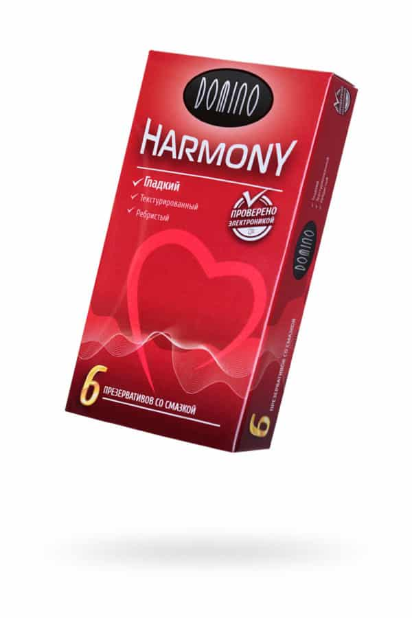 Презервативы Luxe DOMINO HARMONY Гладкий 6 шт. в упаковке, Категория - Презервативы/Рельефные и фантазийные презервативы, Атрикул 0T-00010728 Изображение 1