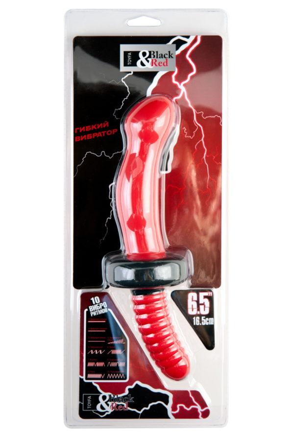 Анальный вибратор Black & Red by TOYFA, 10 режимов вибрации, водонепроницаемый, силикон, красный, 16,5 см, Ø 4,3 см, Категория - Секс-игрушки/Анальные игрушки/Анальные вибраторы, Атрикул 0T-00006053 Изображение 3