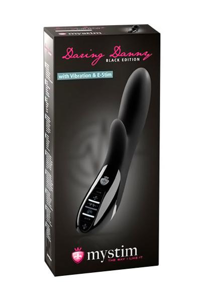 Вибратор Mystim Daring Danny  силиконовый с электростимуляцией чёрный, 27 см, Категория - Секс-игрушки/Электростимуляция/Электростимуляторы, Атрикул 0T-00008325 Изображение 2