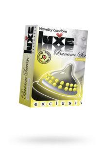 Презервативы Luxe Exclusive Кричащий банан №1, 1 шт, Категория - Презервативы/Рельефные и фантазийные презервативы, Атрикул 0T-00010899 Изображение 1