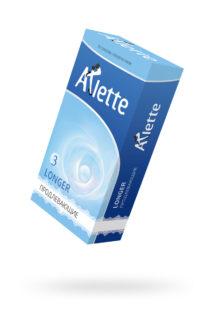 Презервативы ''Arlette'' №12, Longer Продлевающие 12 шт., Категория - Презервативы/Рельефные и фантазийные презервативы, Атрикул 0T-00014100 Изображение 1