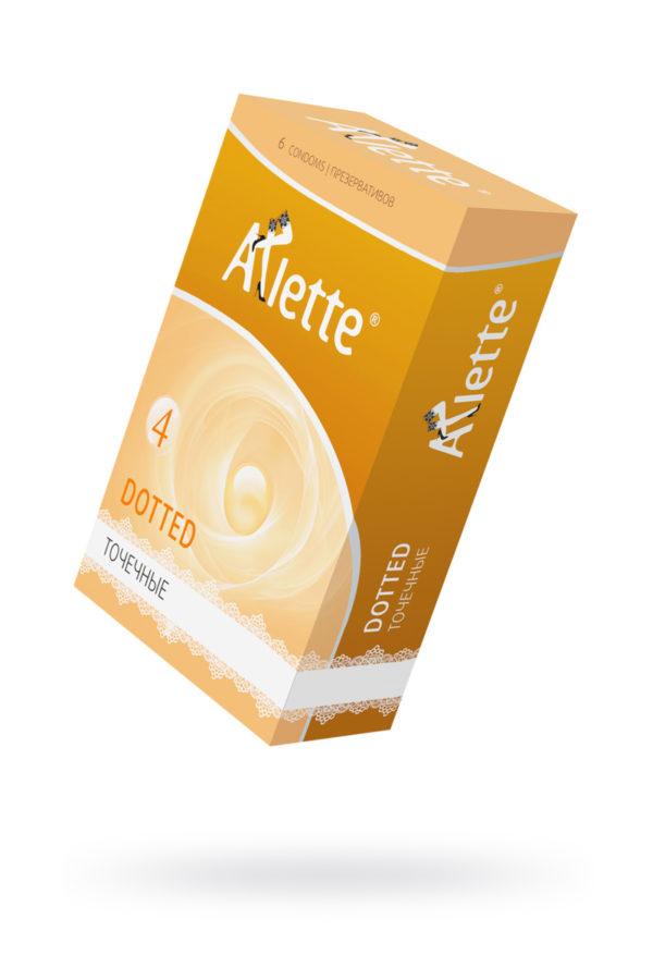Презервативы ''Arlette'' №6, Dotted Точечные 6 шт., Категория - Презервативы/Рельефные и фантазийные презервативы, Атрикул 0T-00014095 Изображение 1