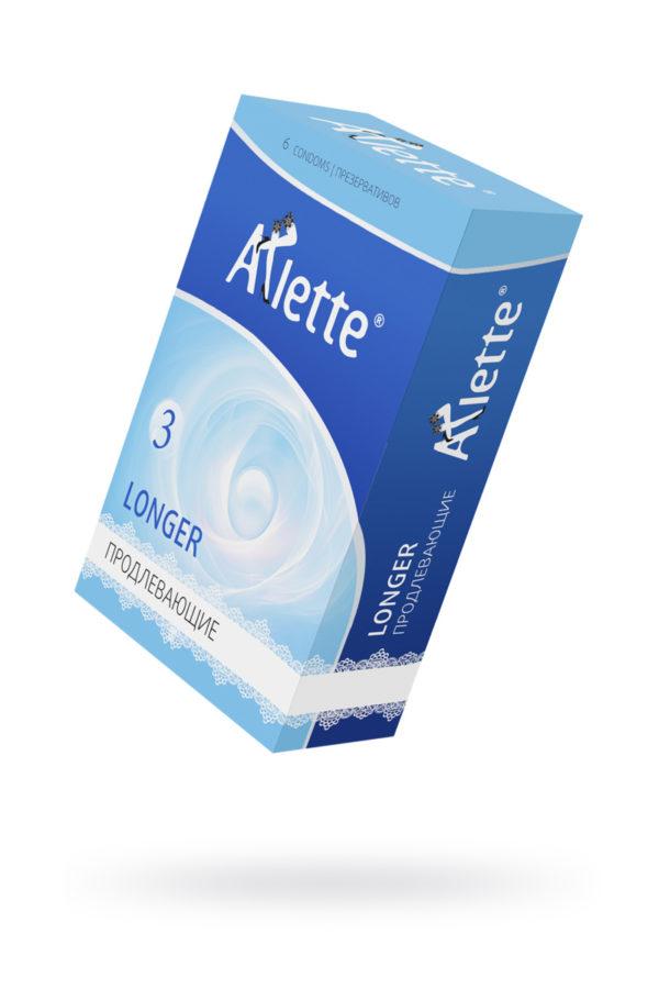 Презервативы ''Arlette'' №6, Longer Продлевающие 6 шт., Категория - Презервативы/Рельефные и фантазийные презервативы, Атрикул 0T-00014094 Изображение 1