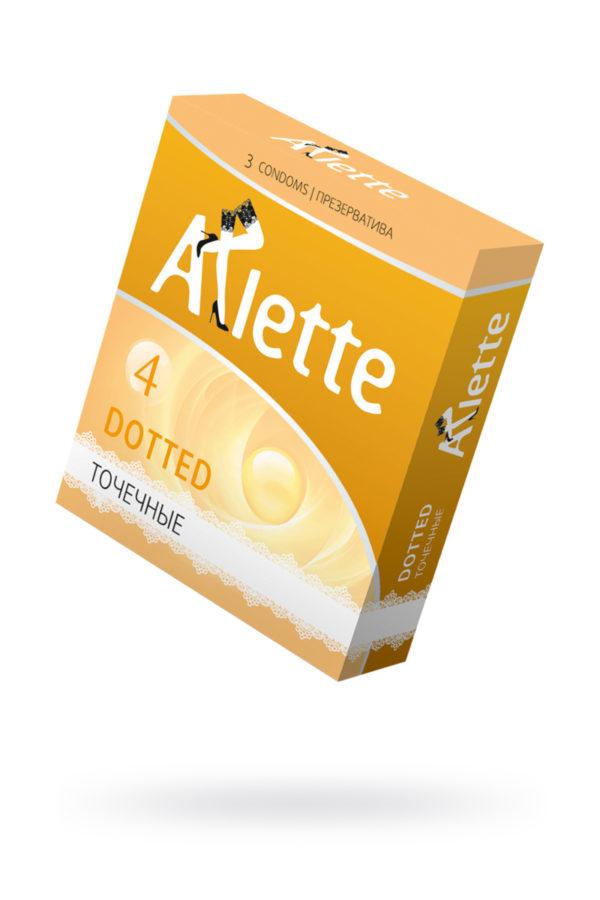 Презервативы ''Arlette'' №3, Dotted Точечные 3 шт., Категория - Презервативы/Рельефные и фантазийные презервативы, Атрикул 0T-00014090 Изображение 1