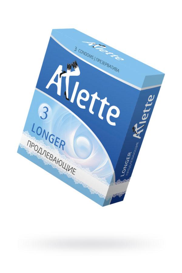 Презервативы ''Arlette'' №3, Longer Продлевающие  3 шт., Категория - Презервативы/Рельефные и фантазийные презервативы, Атрикул 0T-00014089 Изображение 1