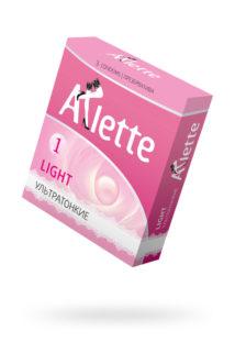 Презервативы ''Arlette'' №3, Light Ультратонкие 3 шт., Категория - Презервативы/Рельефные и фантазийные презервативы, Атрикул 0T-00014087 Изображение 1