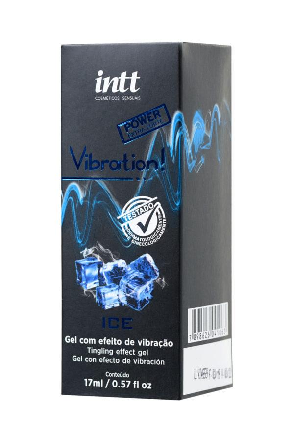 Жидкий массажный гель INTT VIBRATION Extra-strong Ice с охлаждающим эффектом и эффектом вибрации, 17 мл, Категория - Интимная косметика/Средства для массажа/Гели и масла, Атрикул 0T-00013358 Изображение 2