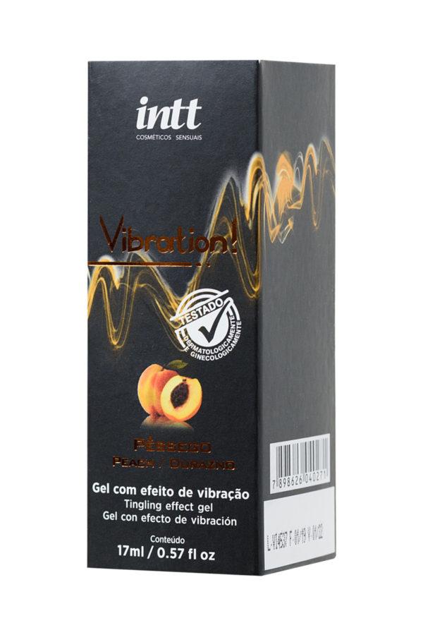 Жидкий массажный гель INTT VIBRATION Peach с эффектом вибрации и ароматом персика, 17 мл, Категория - Интимная косметика/Средства для массажа/Гели и масла, Атрикул 0T-00013355 Изображение 2