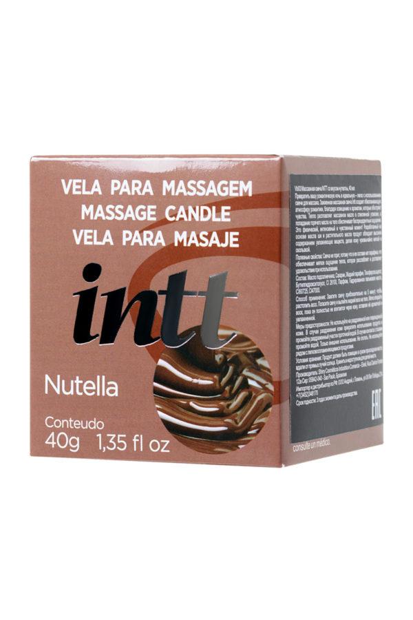 Массажная свеча для поцелуев INTT Nutella с ароматом «Нутеллы», 30 мл, Категория - Интимная косметика/Средства для массажа/Массажные свечи, Атрикул 0T-00013329 Изображение 2