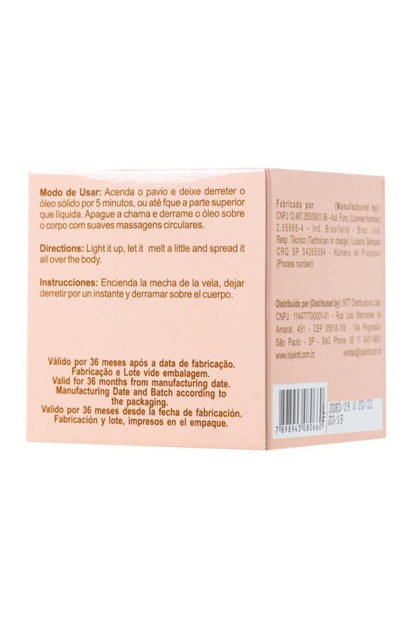 Массажная свеча для поцелуев INTT Peach с ароматом персика, 30 мл, Категория - Интимная косметика/Средства для массажа/Массажные свечи, Атрикул 0T-00013330 Изображение 3
