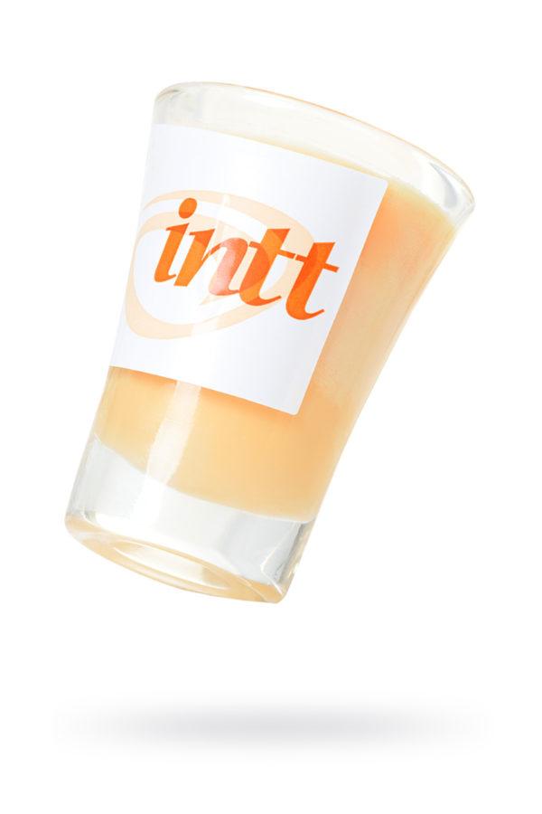 Массажная свеча для поцелуев INTT Peach с ароматом персика, 30 мл, Категория - Интимная косметика/Средства для массажа/Массажные свечи, Атрикул 0T-00013330 Изображение 1