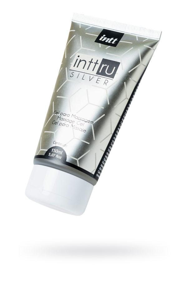 Массажный гель INTT RU Silver с фруктовым ароматом, 150 мл, Категория - Интимная косметика/Средства для массажа/Гели и масла, Атрикул 0T-00013349 Изображение 1