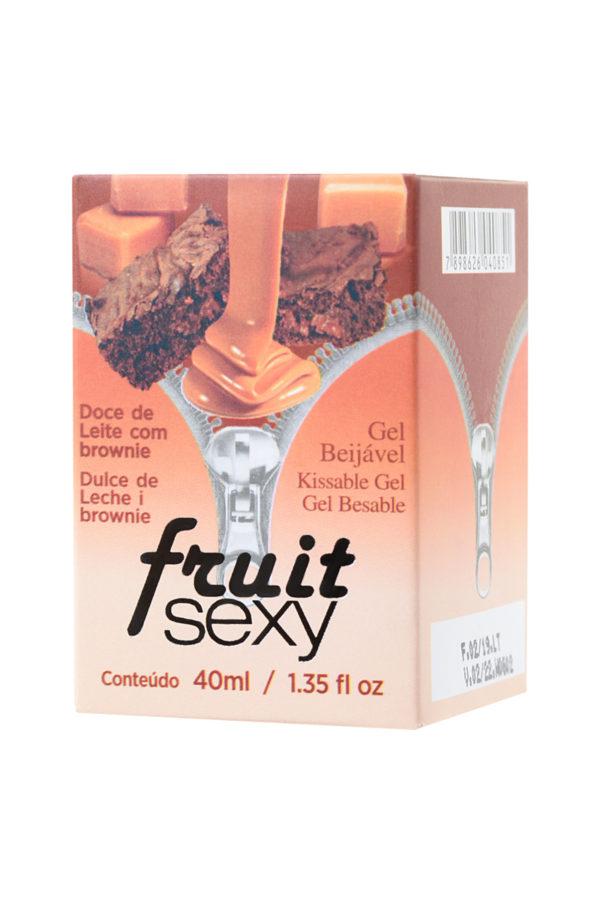 Массажное масло для поцелуев INTT FRUIT SEXY Dulce de leche and brownie с разогревающим эффектом и ароматом сладкого брауни, 40 мл, Категория - Интимная косметика/Средства для массажа/Гели и масла, Атрикул 0T-00013346 Изображение 2