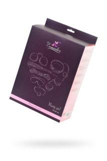Набор для ролевых игр в стиле БДСМ Eromantica, розовый: маска, наручники, оковы, ошейник, флоггер, кляп, Категория - БДСМ, фетиш/БДСМ наборы и комплекты, Атрикул 0T-00013383 Изображение 1