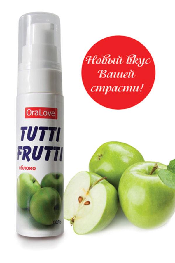 Съедобная гель-смазка TUTTI-FRUTTI для орального секса со вкусом яблока 30г, Категория - Гели, смазки и лубриканты/Съедобные гели и смазки, Атрикул 0T-00014758 Изображение 3
