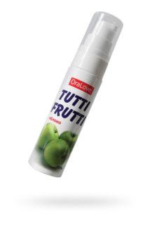 Съедобная гель-смазка TUTTI-FRUTTI для орального секса со вкусом яблока 30г, Категория - Гели, смазки и лубриканты/Съедобные гели и смазки, Атрикул 0T-00014758 Изображение 1