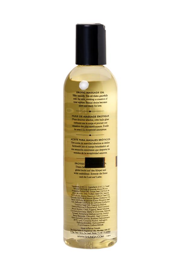 Масло для массажа Shunga Serenity, натуральное, возбуждающее, с цветочным ароматом, 250 мл, Категория - Интимная косметика/Средства для массажа/Гели и масла, Атрикул 0T-00005957 Изображение 3