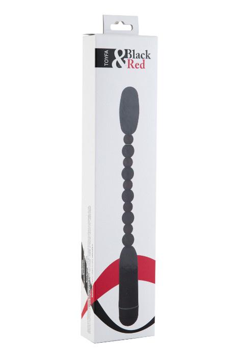 Анальный вибратор Black & Red by TOYFA, водонепроницаемый, ABS пластик, чёрный, 29 см, Ø 2,7 см, Категория - Секс-игрушки/Анальные игрушки/Анальные вибраторы, Атрикул 0T-00000616 Изображение 2