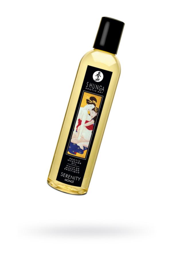 Масло для массажа Shunga Serenity, натуральное, возбуждающее, с цветочным ароматом, 250 мл, Категория - Интимная косметика/Средства для массажа/Гели и масла, Атрикул 0T-00005957 Изображение 1