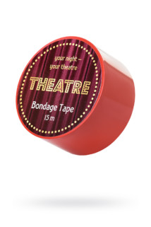 Бондажный скотч TOYFA Theatre, красный, 15 м., Категория - БДСМ, фетиш/Фиксация и бондаж/Веревки, ленты для бондажа, Атрикул 0T-00012114 Изображение 1