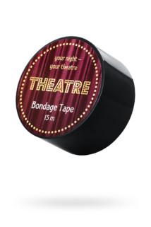 Бондажный скотч TOYFA Theatre, чёрный, 15 м., Категория - БДСМ, фетиш/Фиксация и бондаж/Веревки, ленты для бондажа, Атрикул 0T-00012113 Изображение 1
