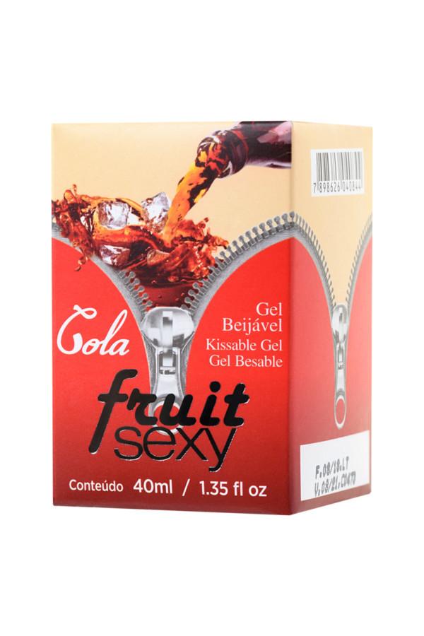 Массажное масло для поцелуев INTT FRUIT SEXY Cola с разогревающим эффектом и ароматом колы, 40 мл, Категория - Интимная косметика/Средства для массажа/Гели и масла, Атрикул 0T-00013345 Изображение 2