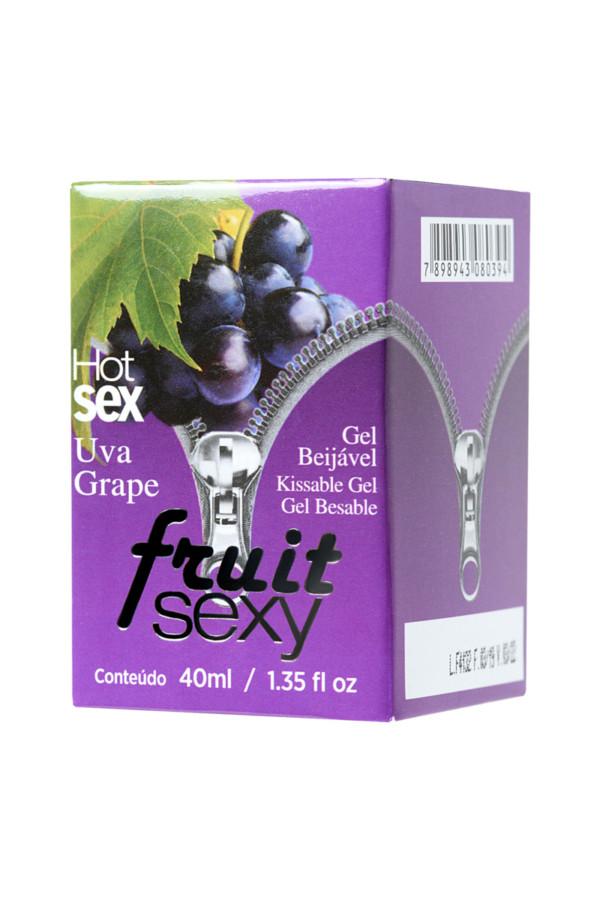 Массажное масло для поцелуев INTT FRUIT SEXY Grape с разогревающим эффектом и ароматом винограда, 40 мл, Категория - Интимная косметика/Средства для массажа/Гели и масла, Атрикул 0T-00013336 Изображение 2