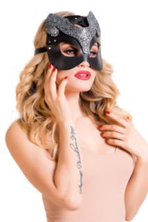 One Size Маска H.E.L. Cattie, черный, OS, Категория - Белье и одежда/Аксессуары для белья и одежды/Украшения на голову, шею, лицо, Атрикул 0T-00014507 Изображение 1