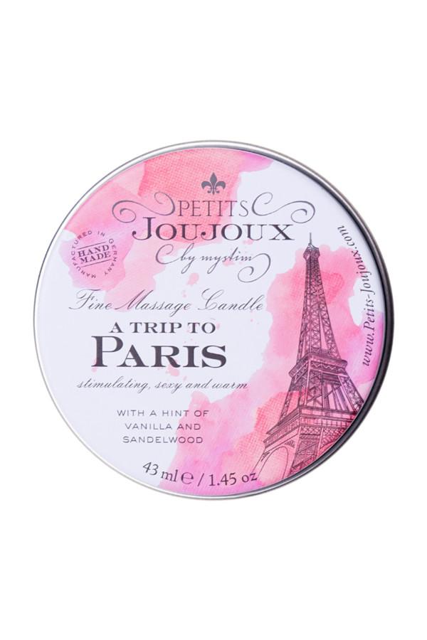 Массажная свеча Petits JouJoux Mini Paris с ароматом ванили и сандалового дерева, 43 мл, Категория - Интимная косметика/Средства для массажа/Массажные свечи, Атрикул 0T-00013423 Изображение 3