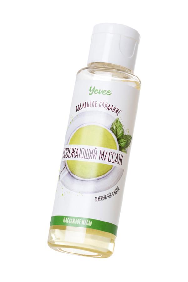 Масло для массажа Yovee by Toyfa «Освежающий массаж», с ароматом зеленого чая и мяты, 50 мл, Категория - Интимная косметика/Средства для массажа/Гели и масла, Атрикул 0T-00014920 Изображение 2