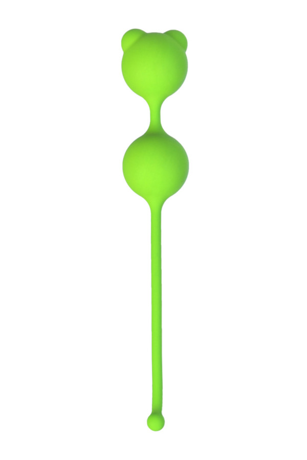 Вагинальные шарики A-Toys by TOYFA, силикон, зеленый, Ø 2,7 см, Категория - Секс-игрушки/Вагинальные шарики и тренажеры интимных мышц/Вагинальные шарики, Атрикул 0T-00014545 Изображение 2