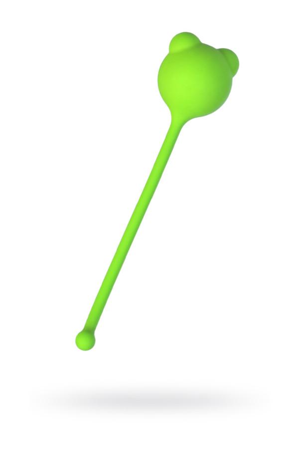 Вагинальный шарик A-Toys by TOYFA, силикон, зеленый, Ø 2,7 см, Категория - Секс-игрушки/Вагинальные шарики и тренажеры интимных мышц/Вагинальные шарики, Атрикул 0T-00014547 Изображение 1