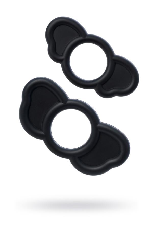 Набор эрекционных колец Sexus Men ELEPHANT RINGS, силикон, чёрный, Категория - Секс-игрушки/Помпы/Аксессуары для помп, Атрикул 0T-00015193 Изображение 1