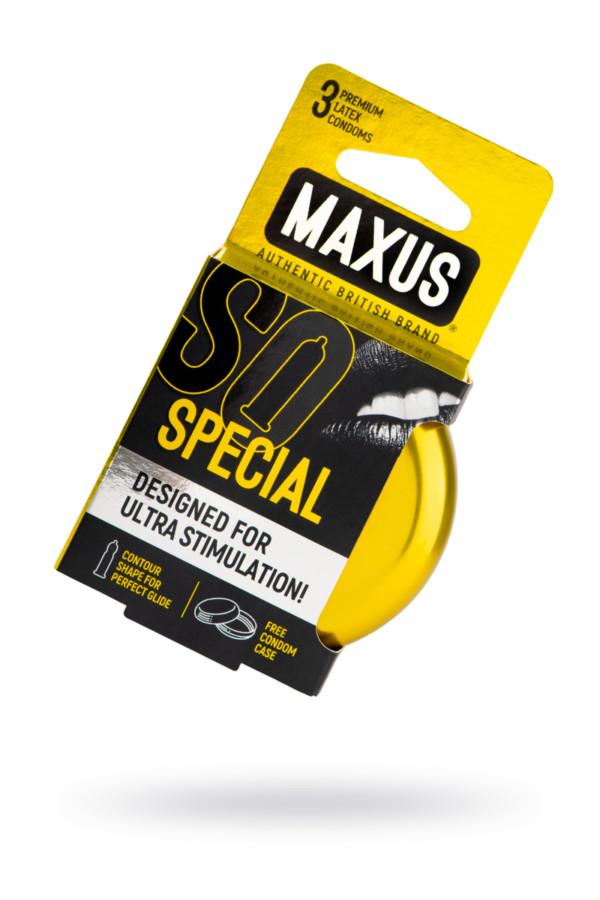 Презервативы MAXUS Точечно-ребристые в железном кейсе № 3, 18 см, Категория - Презервативы/Классические презервативы, Атрикул 0T-00015458 Изображение 1