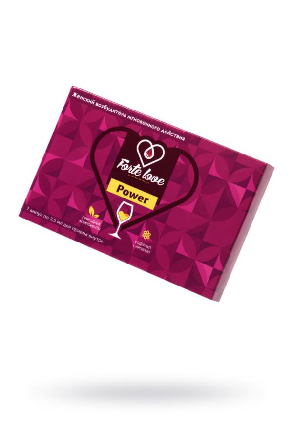 Капли для женщин Forte Love Power, 7 ампул по 2,5 мл, Категория - БДСМ, фетиш/БАДы/БАДы для женщин, Атрикул 0T-00015740 Изображение 1