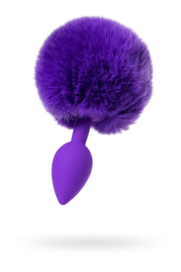 Анальная втулка с хвостом ToDo by Toyfa Sweet bunny, силикон, фиолетовая, 13 см, Ø 2,8 см, 42 г, Категория - Секс-игрушки/Анальные игрушки/Анальные втулки с украшениями, Атрикул 0T-00014529 Изображение 1
