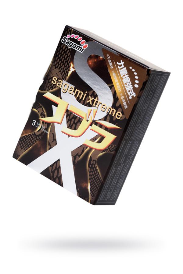 Презервативы латексные Sagami Xtreme Cobra №3, 19 см, Категория - Презервативы/Классические презервативы, Атрикул 0T-00015763 Изображение 1