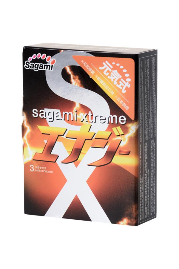 Презервативы латексные Sagami Xtreme Energy №3, 19 см, Категория - Презервативы/Классические презервативы, Атрикул 0T-00015764 Изображение 2