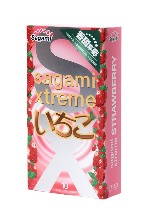 Презервативы латексные Sagami Xtreme Strawberry №10, 19 см, Категория - Презервативы/Классические презервативы, Атрикул 0T-00015771 Изображение 2