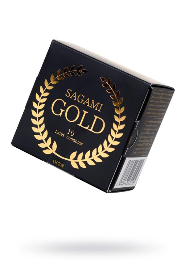 Презервативы латексные Sagami Gold №10, 18 см, Категория - Презервативы/Классические презервативы, Атрикул 0T-00015775 Изображение 1