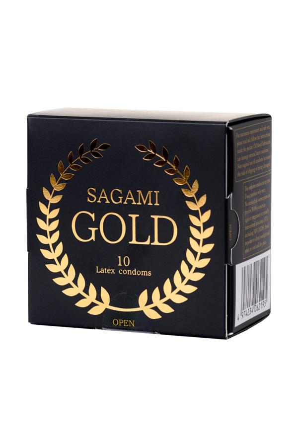 Презервативы латексные Sagami Gold №10, 18 см, Категория - Презервативы/Классические презервативы, Атрикул 0T-00015775 Изображение 2